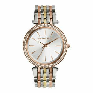 Michael Kors Dazzling Crystal Two Tone Watch